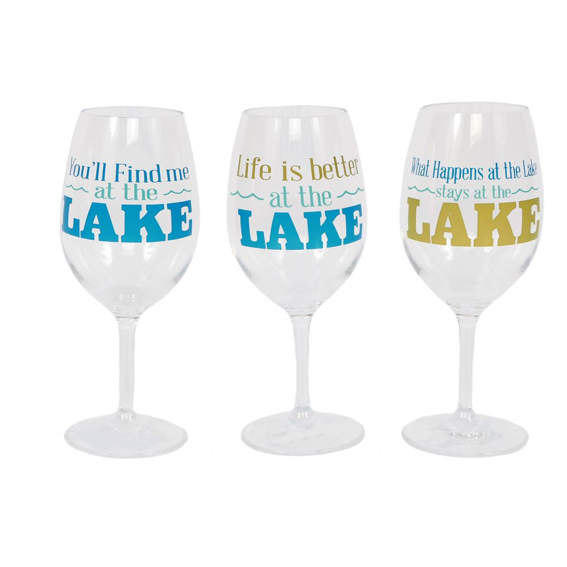 Lake Sayings Plastic Wine Glass Crafters Gallery Saratoga